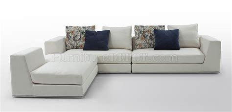 Vig Sectional Sofa 736 Odessa Sectional Sofa In Light Fabric By Vig