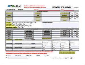 site survey template sle site survey template 8 free documents in word pdf