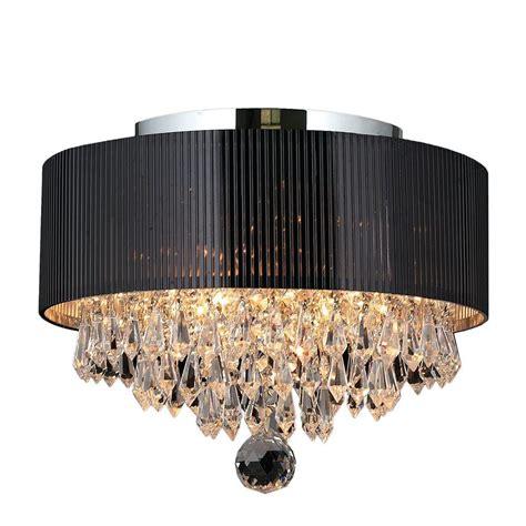 chrome flush mount ceiling light crystal ceiling light worldwide lighting gatsby