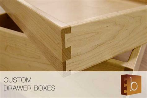 Custom Made Drawer Boxes by Backwater Products Custom Dovetail Drawer Boxes