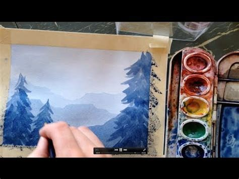 watercolor glazing tutorial how to paint a simple landscape in watercolor youtube