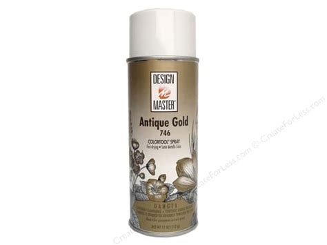 design master colortool spray paint antique gold 12 oz createforless
