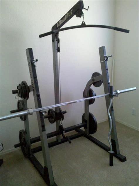 Nautilus Squat Rack fs nautilus bench squat rack w weights tacoma world