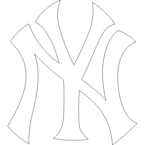 New York Yankees Cap Logo Iron On Transfer Heat Transfer New York Yankees Coloring Pages