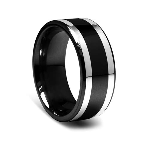 Best 25  Black wedding rings ideas on Pinterest   Black engagement rings, Black band engagement
