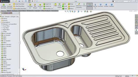 solidworks tutorial in hindi solidworks tutorial sketch kitchen sink in solidworks