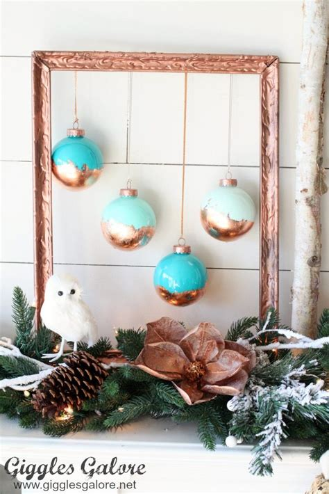 diy picture frame ornaments diy painted copper leaf ornaments giggles galore