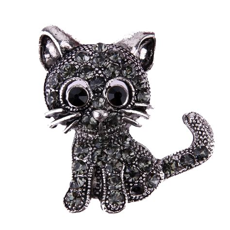 Black Housing 11 Pin Pin vintage black cat brooch pins 28 31 3mm brooch 2017 fashion pin up brooch
