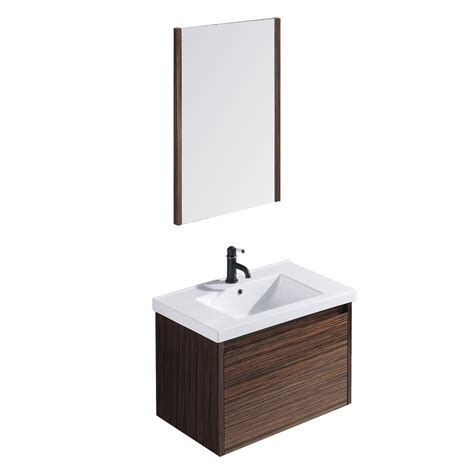shop vigo ebony drop in single sink bathroom vanity with
