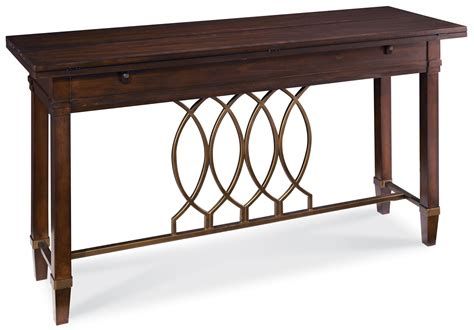 a r t furniture inc intrigue flip top sofa table with