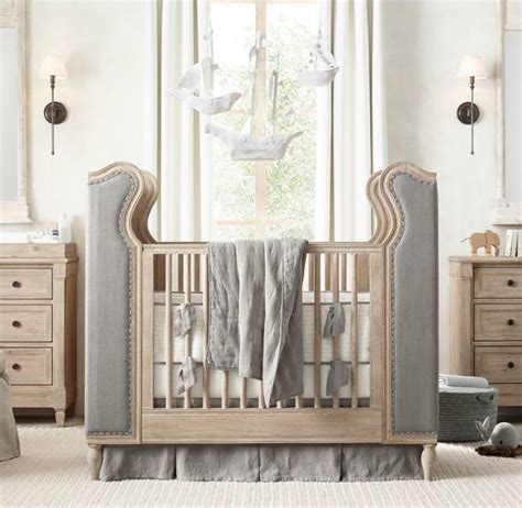 High End Crib Brands by Tufted Crib From Rh Baby Child Decoist
