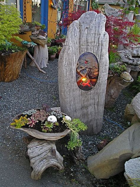 Hello Garden Light With Planter by Garden Light Driftwood Planters Driftwood And Planters