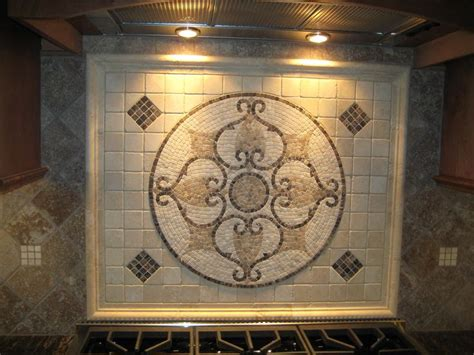 kitchen backsplash medallion tile medallion backsplashes pinterest tile