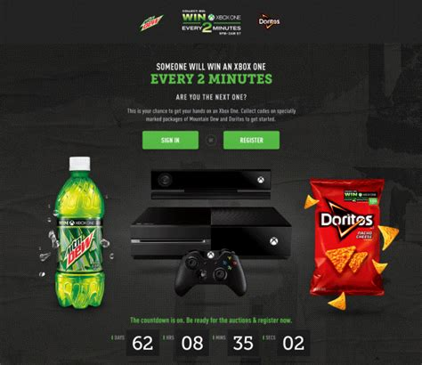 Pepsi Xbox One Giveaway - mountain dew every 2 minutes on adweek talent gallery