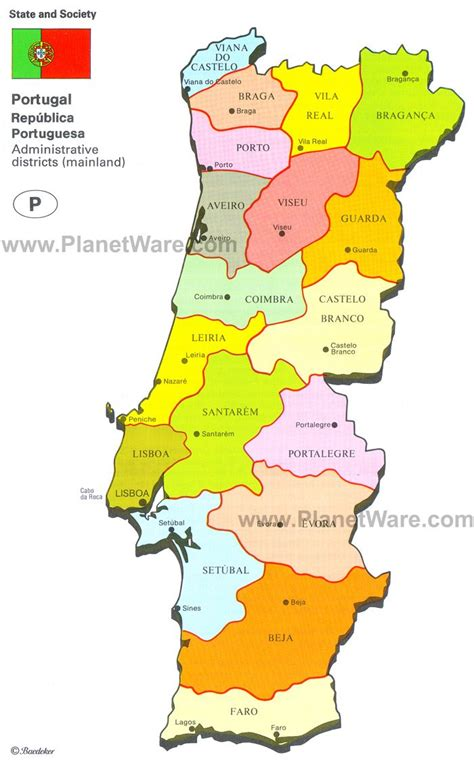 printable map portugal map of portugal planetware