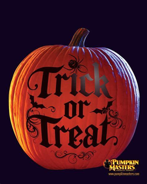 quot trick or treat quot pattern from the pumpkin masters