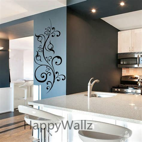 modern wall stickers for living room modern flower wine wall sticker flower wall decal modern wall decors living room beautiful
