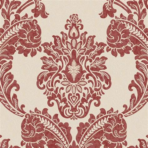 red damask wallpaper home decor red damask wallpaper home decor shop graham brown palais