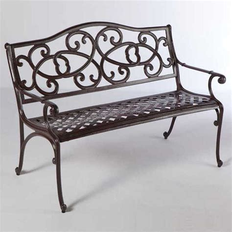 cast aluminum outdoor bench daffodil cast aluminum outdoor bench at jackson perkins