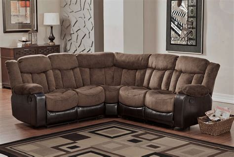 microfiber reclining sectional create   coziness