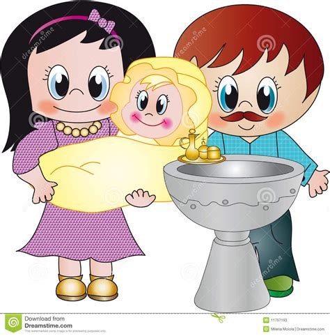 Clipart Battesimo Battesimo Illustrazione Di Stock Illustrazione Di Figlia
