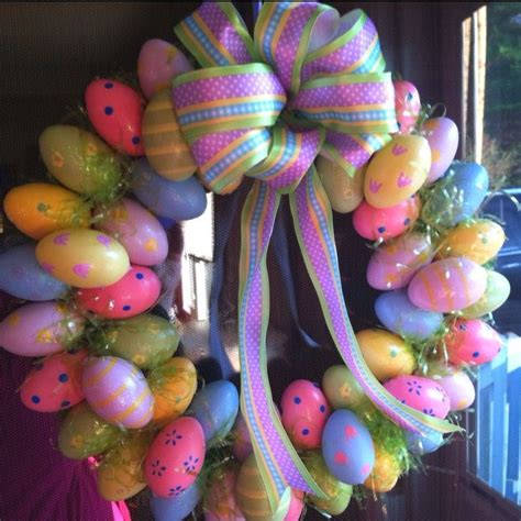 easter wreath ideas 15 easter egg wreath ideas diy cozy home