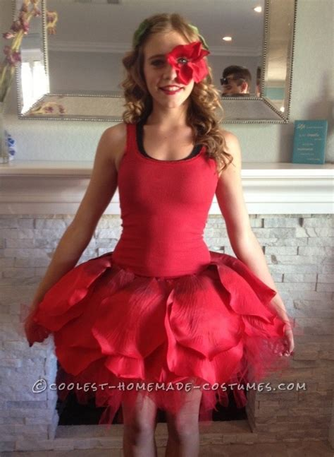 rose themed dress dancing rose costume from alice in wonderland