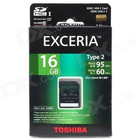 Micro Sd Toshiba Exceria Microsd Class 10 Uhs 1 80mb S 32gb toshiba sd h16gr7wa6 sdhc uhs i exceria type2 memory card black grey 16gb class 10
