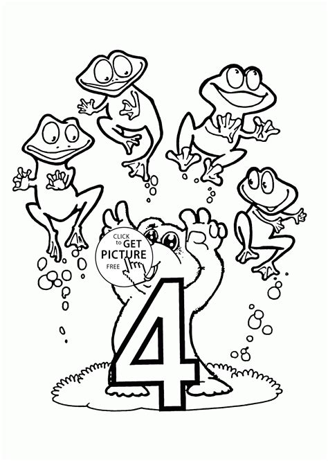 Number 4 Coloring Pages Preschool by Number 4 Coloring Pages For Preschoolers Counting Numbers