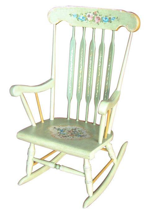 dondolo sedia sedia a dondolo decorata a mano in stile trentino sedie