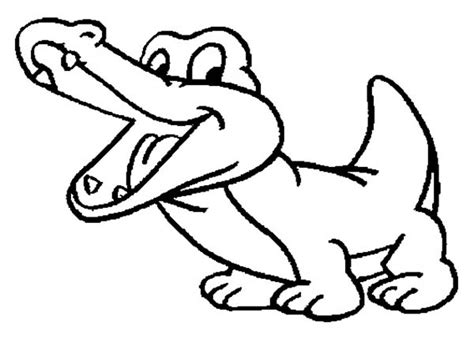 free crocodile drawing coloring pages