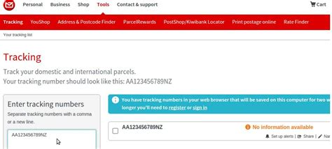 Address Postcode Finder Nz Nz Post Tracking Track International Parcels