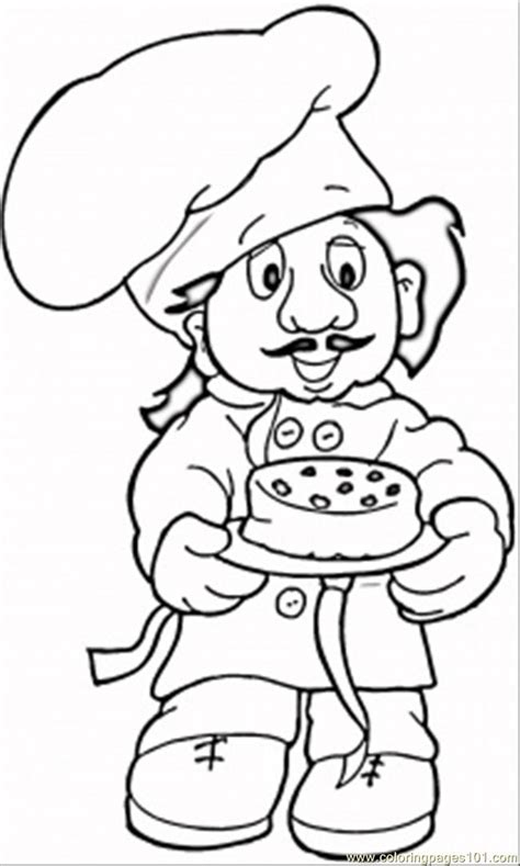 Baker Coloring Page coloring pages baker peoples gt profession free