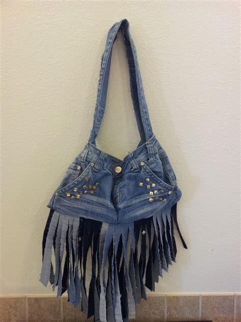 how to make a purse out of old jeans summer studded diy