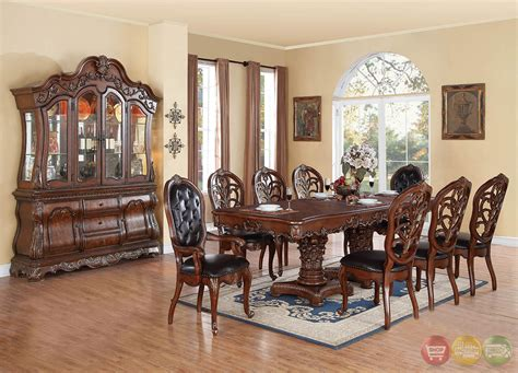 formal dining set selene traditional wood formal dining set with buffet