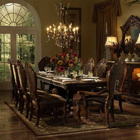 michael amini dining room michael amini cortina beautiful cherry formal dining table