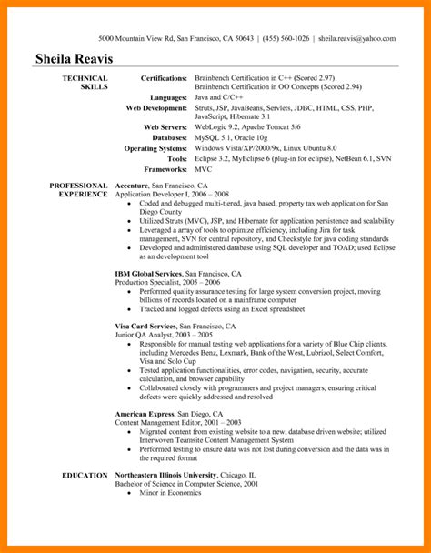 17 unique java developer resume sle graphics