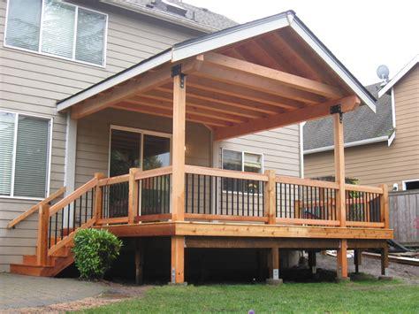fir timber framed roof cover cedar deck built by