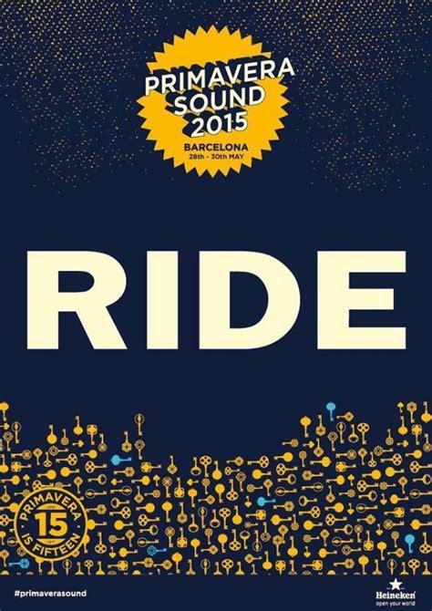 Cd Ride Tarantula primavera sound 2015 nuovo poster nuova conferma news sentireascoltare
