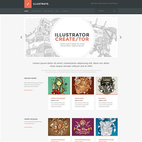 illustrate premium portfolio wordpress theme wpexplorer