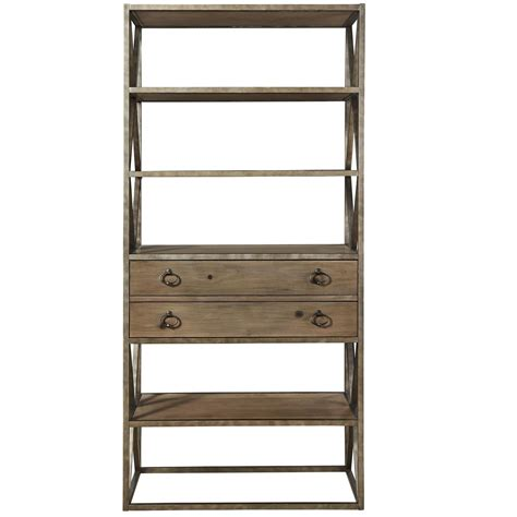 iron and wood bookcase french industrial wood and iron etagere bookcase w