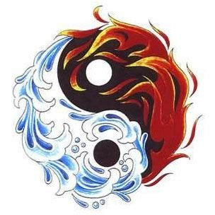 fire and water tattoo designs 1000 ideas about coexist on flower of