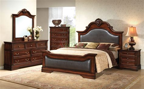 leather bedroom furniture bedroom furniture set with leather headboard and footboard