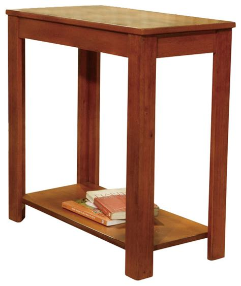 cherry wood accent tables cherry wood clean lines rich color shelf end sofa chair