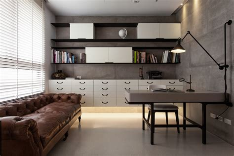 House Design Studio Taiwan Open Shelving And Office Storage View Interior Design Ideas