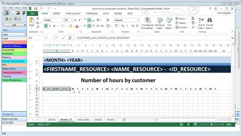 Create Excel Schedule Templates From The Planning Software Planningpme Youtube Dock Scheduling Template