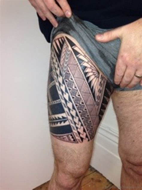 tribal thigh tattoos 53 fantastic tribal tattoos on thigh