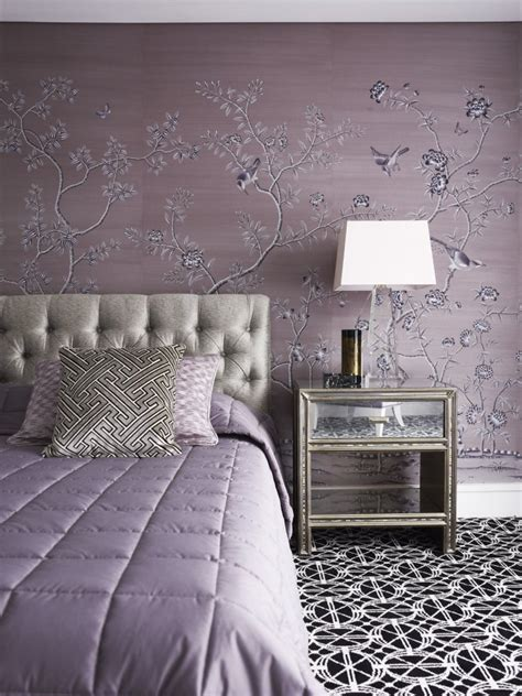 grey and lavender bedroom soft and hard interiors by color