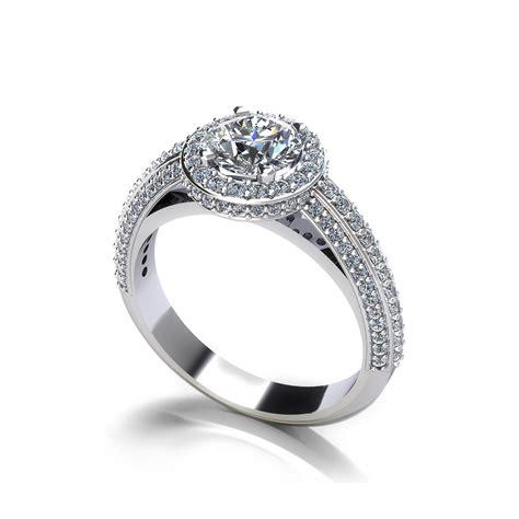 designer halo engagement ring jewelry designs