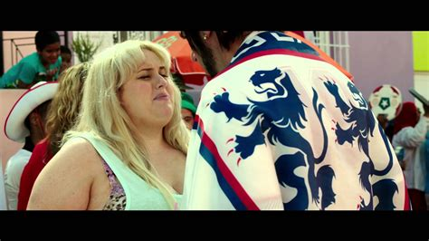sacha baron cohen kisses rebel wilson on the set of grimsby official trailer 2 youtube